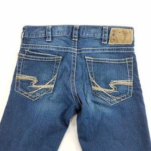 Silver Jeans Zac Straight Leg Denim Pants